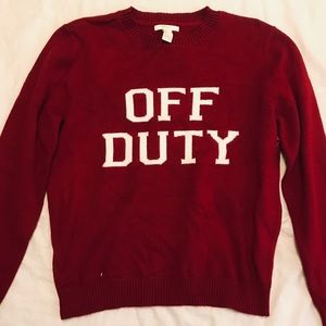 Off Duty Sweater